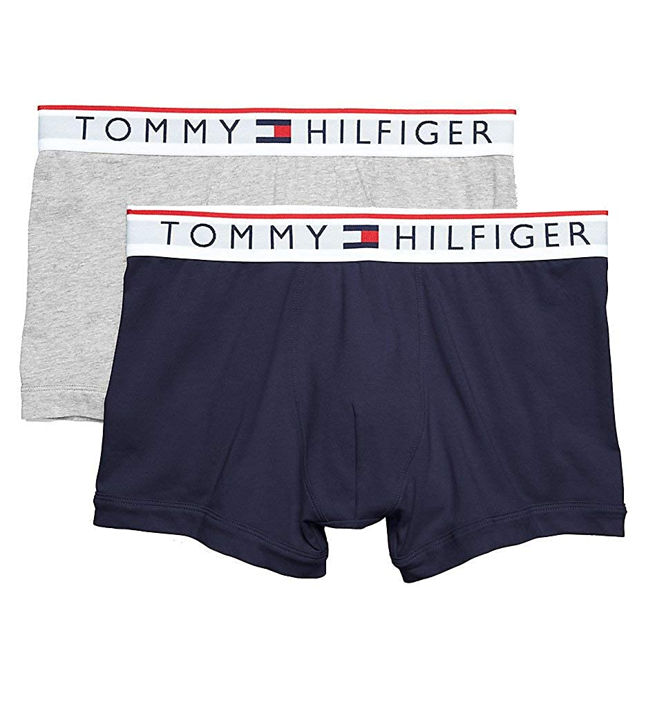 5a7c6ea2d0b8e Amazon.com  Tommy Hilfiger Modern Essentials Cotton Stretch Trunks - 2 Pack  (09T3481)  Clothing