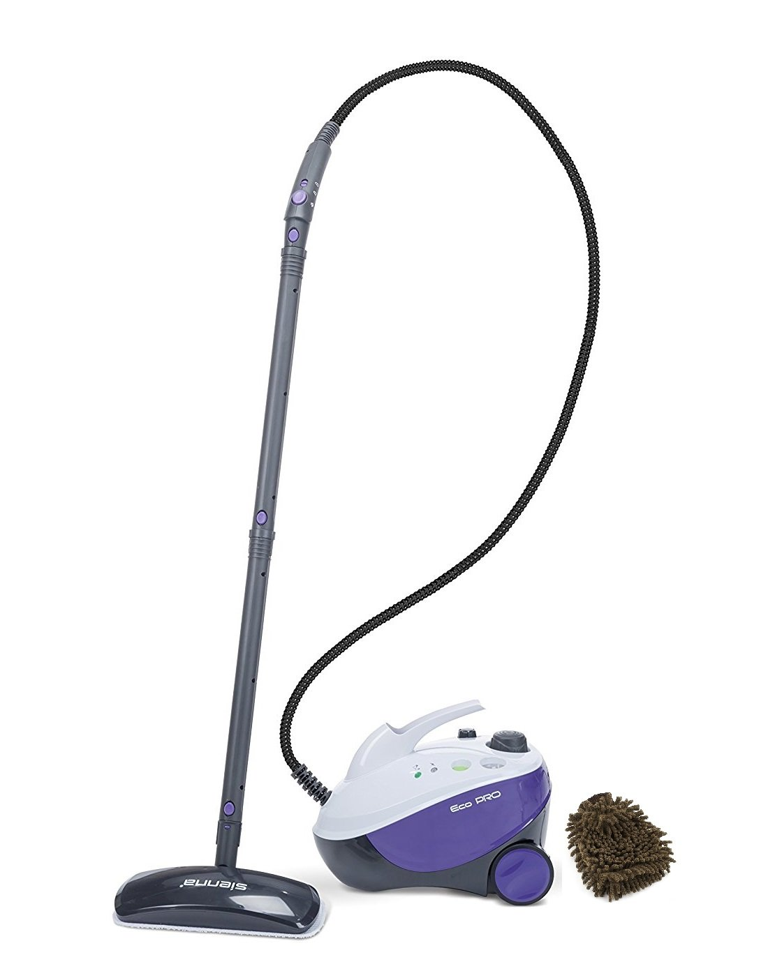 Sienna Eco Pro SSC-0412 Steam Cleaner, Multi Purpose (Complete Set) w/ Bonus: Premium Microfiber Cleaner Bundle