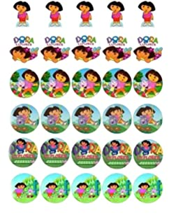 Amazoncom  Cupcake Toppers Rings Dora The Explorer Boots - Dora birthday cake toppers