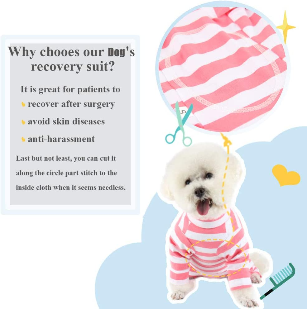 E-Collar Alternative for Dogs Home Indoor Pets Clothing After Surgery Wear Due Felice Dog Professional Surgical Recovery Suit for Abdominal Wounds Skin Diseases