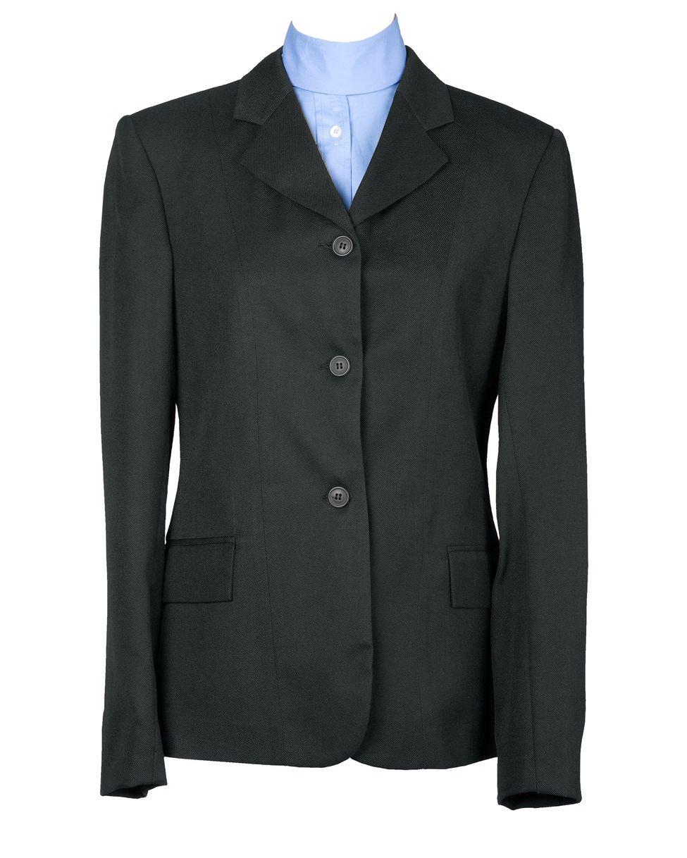 Devon Aire Womens 2200BLK22 Concour Classic Show Coat Black//Black