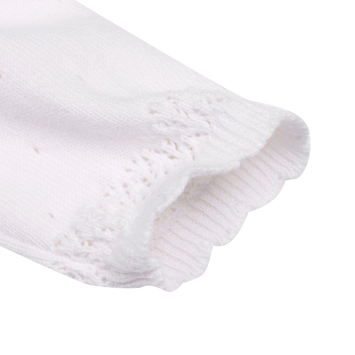 zdhoor Baby Girls Knit Long Sleeve Princess Bolero Shrug Lace Flower Short Cardigan Wedding Party Sweater