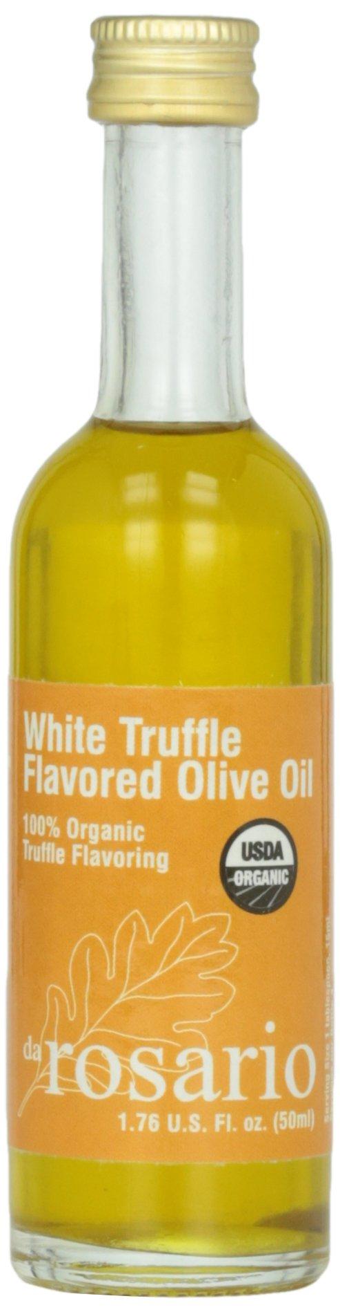 Da Rosario 100% Organic White Truffle Flavored Olive Oil, 1.76-Ounce Glass Bottle