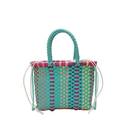 6bf008059330 Amazon.com: Chiccc Ladies Travel Weekender Shoulder Bag Women Weave ...