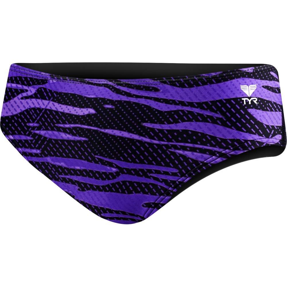 TYR RCR7Y Boys' Crypsis Racer Swimsuit, Purple - 22