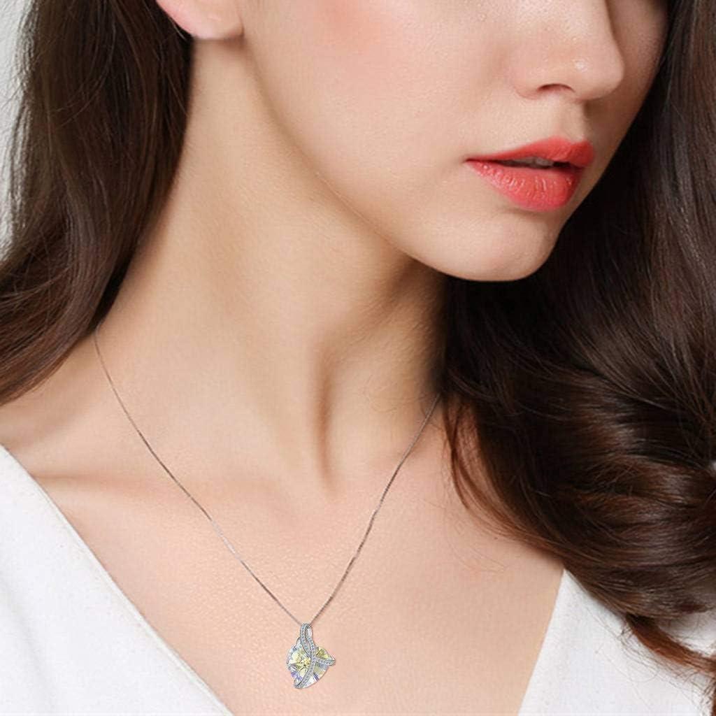 Clearine Donna Set Collana e Orecchini e ArgentoAmore Cuore di dellOceano Cerimonia Nuziale Elegante Parure gioielli Argento 925 e Cristalli