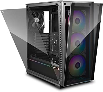 DEEP COOL MATREXX 70 3F Caja de Ordenador para PC, E-ATX Compatible, Panel Frontal con Sistema de Liberación al Tacto, Panel Lateral de Montaje Fácil, A Prueba de Polvo Completamente: Amazon.es: Electrónica