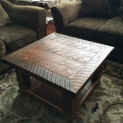"""Amazon.com: """"The Old Seattle Square"""" Reclaimed Wood Coffee"""