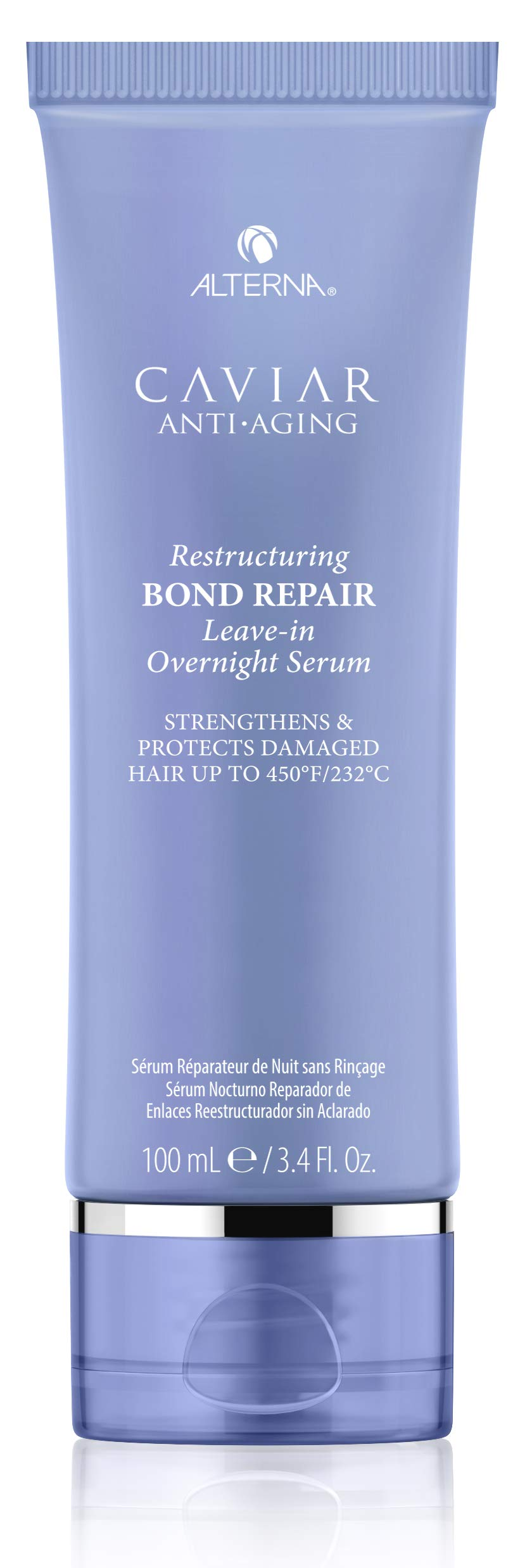 Alterna Caviar Anti-Aging Restructuring Leave-in Overnight Serum, 3.4 Fl Oz | Strengthens & Protects Damaged Hair