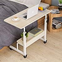 80×40 Mobile Bedside Desk Table Office Portable Laptop Computer Table Adjustable Height Sofa Bed Desks