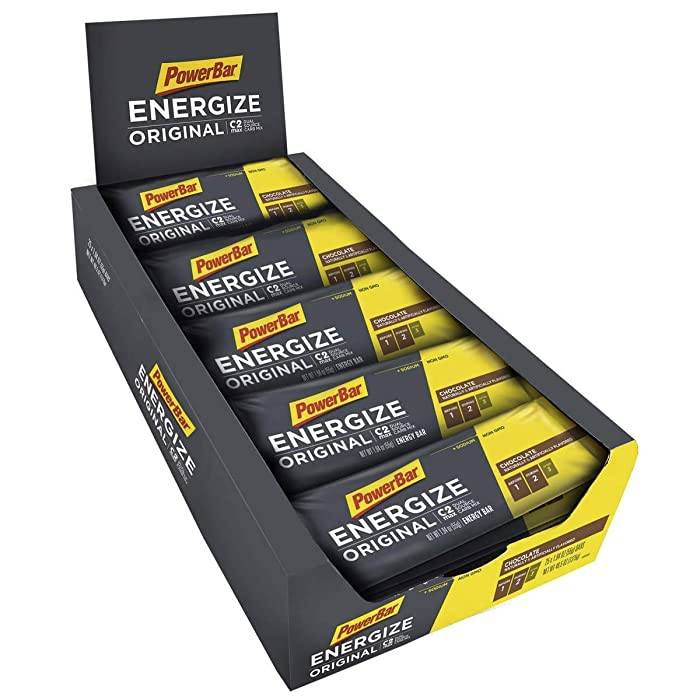 PowerBar Energize Original – 'The Original' Energy Bar for Endurance & Team Sports Athletes – Fueling Champions for 30+ years: 25 x 55g Bars - Chocolate