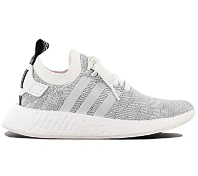 newest 63433 036ad adidas Originals NMD R2 PK W BY9520 Damen Schuhe Weiß-Grau ...