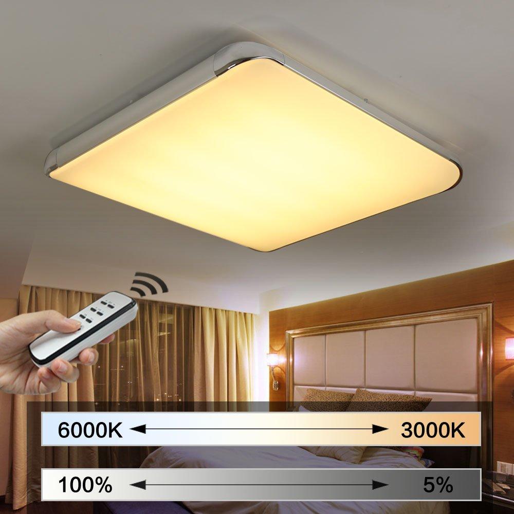Natsen® Moderne LED Deckenlampe Wohnzimmer Lampe I505Y 50W voll ...