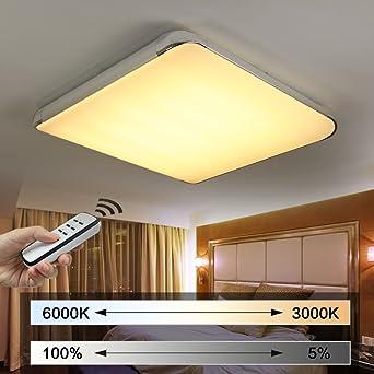 NatsenR Moderne LED Deckenlampe Wohnzimmer Lampe I505Y 50W Voll Dimmbar Mit Fernbedienung 650mm