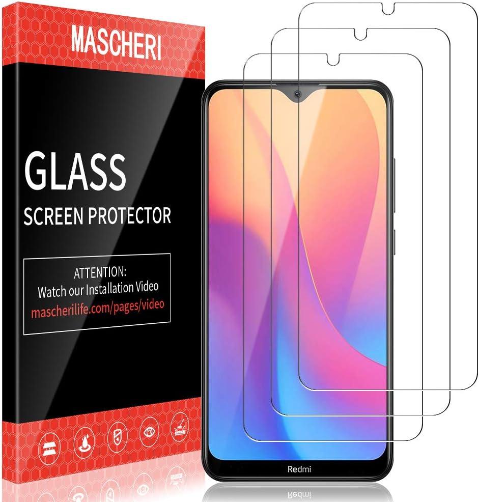 MASCHERI Protector de Pantalla para Xiaomi Redmi 8 / Redmi 8A Cristal Templado, [3 Unidades] Vidrio Templado Protector Pantalla para Xiaomi Redmi 8 / Redmi 8A