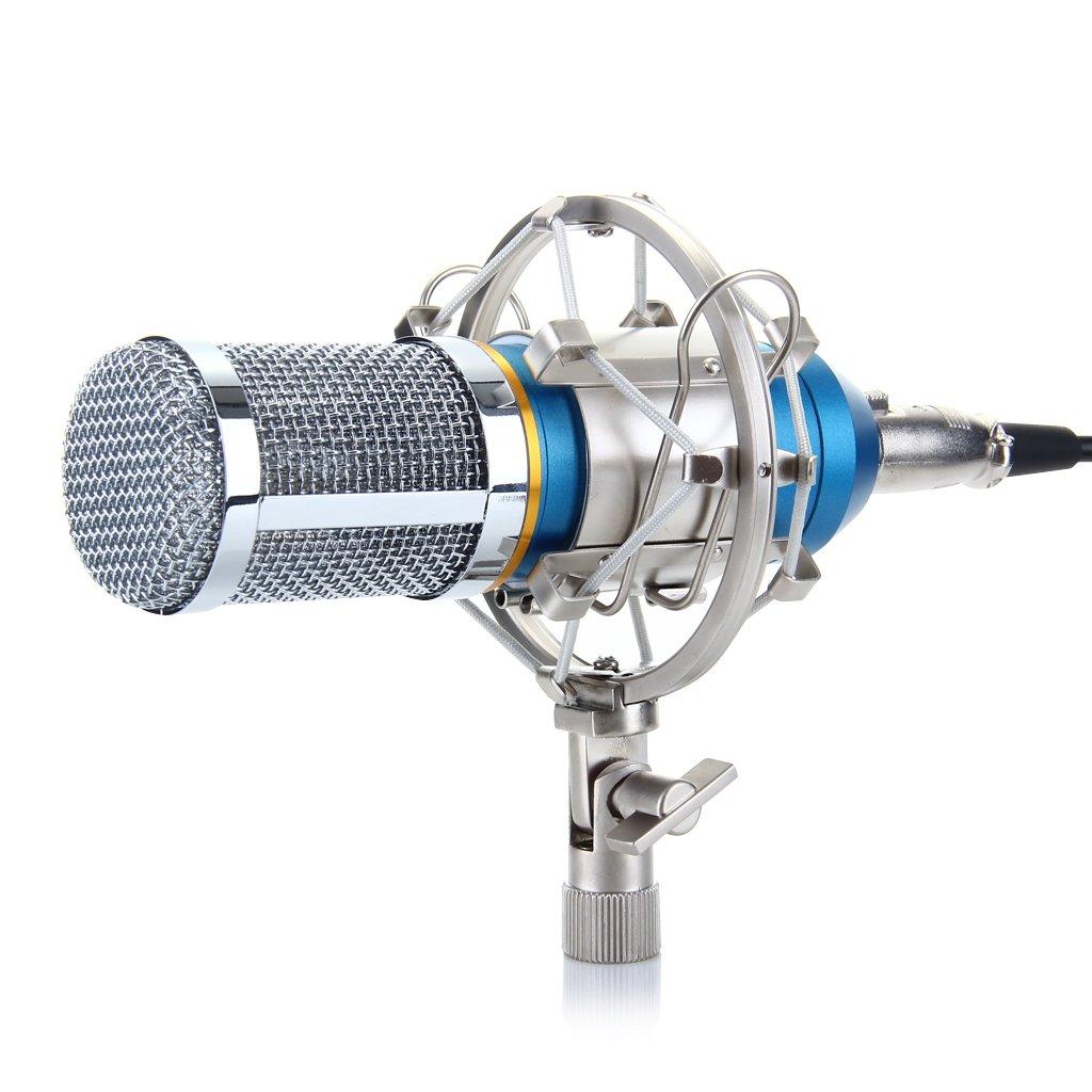 Excelvan Condenser Recording Microphone with Shock Mount Holder, Blue 4336300418