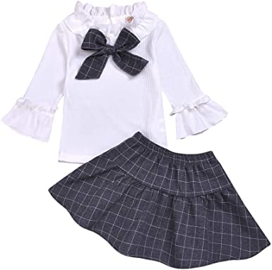 Kids Baby Girls Sleeveles Cotton Dresses Toddler Preppy Navy Style Skirt Clothes