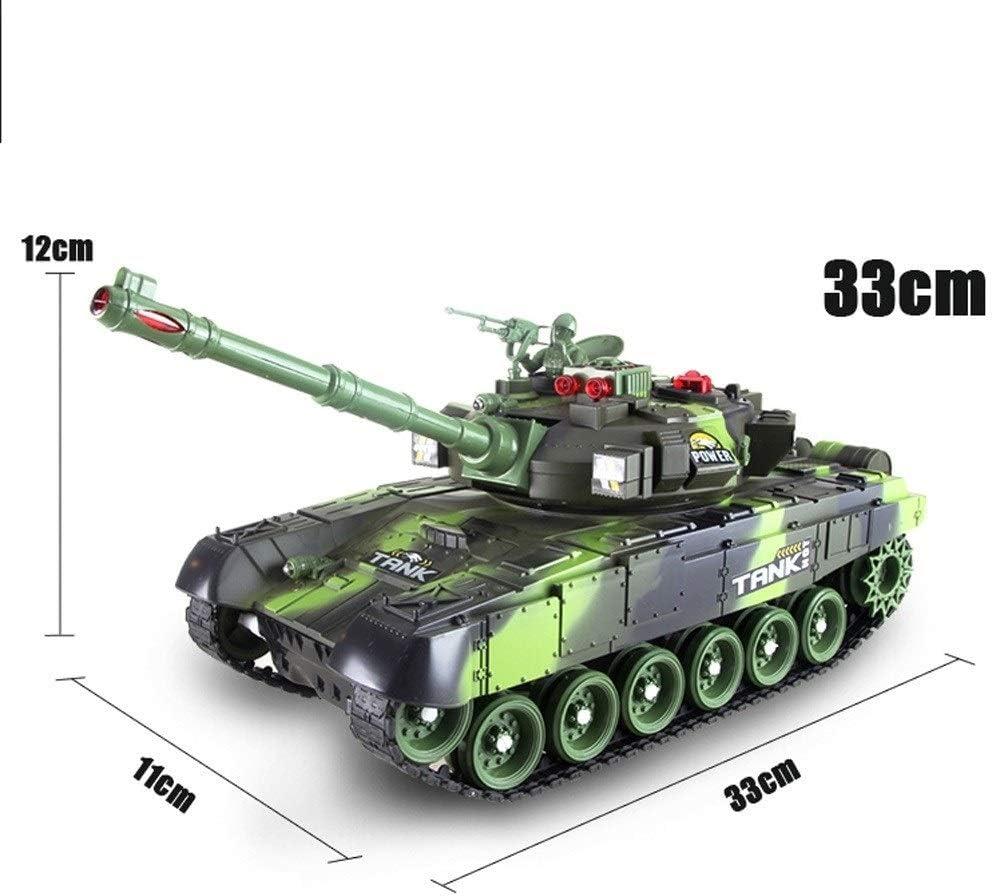 44CM enorme intelligente simulazione Seconda Guerra Mondiale Air Defense telecomando del carro armato RC militare Chariot Radio Controlled Panzer serbatoio con suono rotazione torretta e Kikioo 34CM