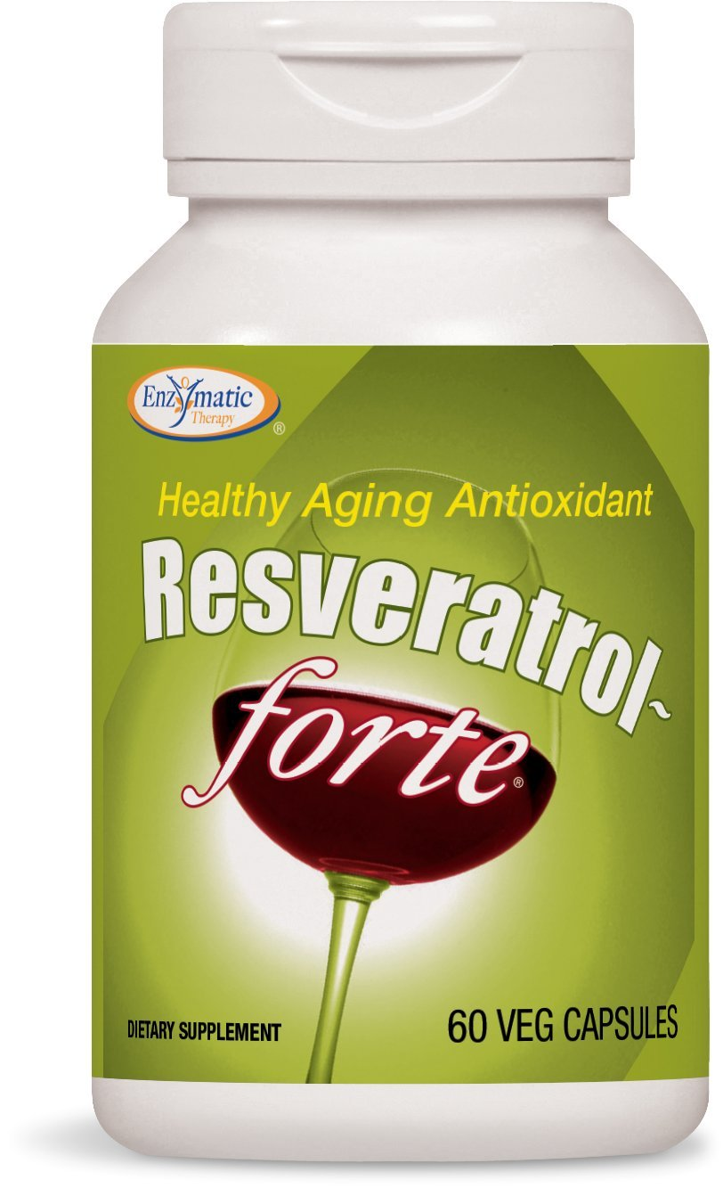 Enzymatic Therapy Resveratrol Forte - 60 capsules, 8 Pack