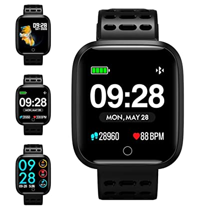 check out 66503 c973a Fitness Tracker Watch, KUNGIX Smart Watch IP67 Waterproof Activity Tracker  with Heart Rate Monitor, Color Screen Smartwatch Bracelet Pedometer Step ...