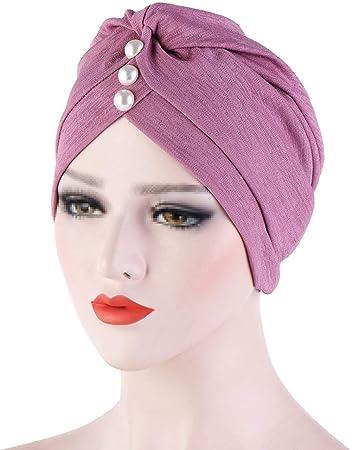 TININNA Gorro Mujer de Bambú para quimio y oncológicos,Turbante de algodón Pañuelo en la Cabeza Abrigo Sombreros para quimioterapia Pérdida de Cabello Sueño,Morado: Amazon.es: Hogar