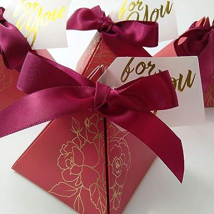 Amazon.com: Caja de regalo triangular para fiesta de boda ...