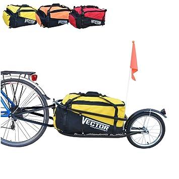 Polironeshop vector remolque carro para bicicleta bicicleta monoruota con bolsa bolsa mochila transporte material Merce compra cicloturismo, ...