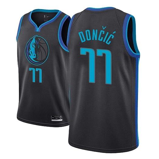 Lalagofe Camiseta Luka Dončić Dallas Mavericks Negro,Camiseta ...