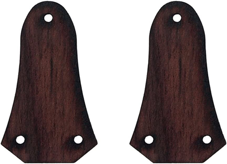 Exquisite Wooden 3 Holes Truss Rod Cover For Acoustic Folk Guitar 2PCS