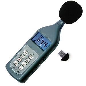 Landtek Instrumentos Profesional Digital Medidor de sonido de 30 a 130 dB con Bluetooth