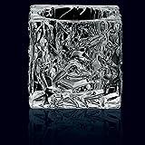 Nachtmann Ice Cube Tealight Holder Set, 2 Part, Votive Light, Candleholder, Lead Crystal, H 7 cm, 0090029-0