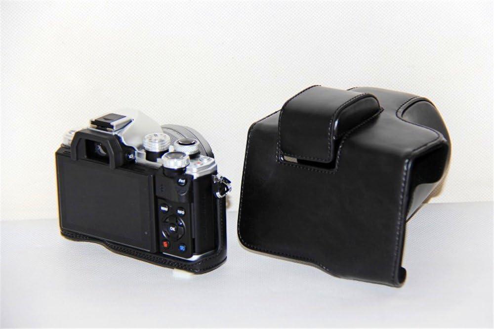 Zakao protettiva in pelle PU borsa custodia per fotocamera con treppiede design compatibile per Olympus OM-D E-M10/Mark 2/EM10/Mark II 14/ /42/mm Lens con cinghia a tracolla E-M10/Mark II custodia