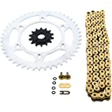 1993-2013 Honda XR650L 650 L GOLD O Ring Chain and Sprocket Silver 14/