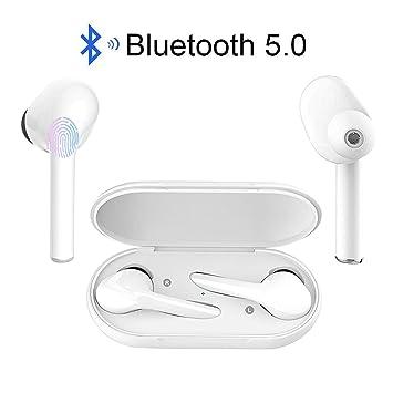 Pozlle /Écouteur sans Fil Oreillette Bluetooth L/éger St/ér/éo HD Casque Sport IPX5 /Étanche Bo/îtier de Chargement Lecture de Microphone Int/égr/é pour iOS et Android /Écouteurs Bluetooth