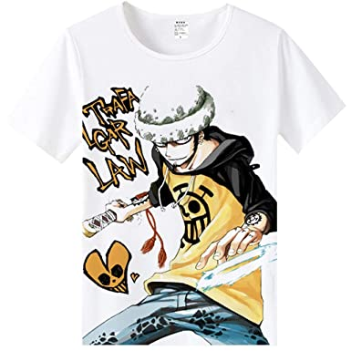 0722d35f Amazon.com: FunStation Tee for Anime One Piece Cosplay Costume Tee Summer  Printed Short Sleeve T-Shirt: Clothing
