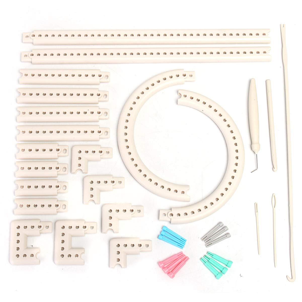 Craft Yarn Multi-function Knitting Board Knit & Weave Loom Kit DIY Tool Set