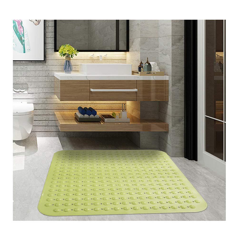 Colore : Beige Xiyu Tappeto da Bagno Antiscivolo Antiscivolo Quadrato Grande Doccia Tappetino da Bagno Tappetino con Ventosa Impermeabile 80 80 CM