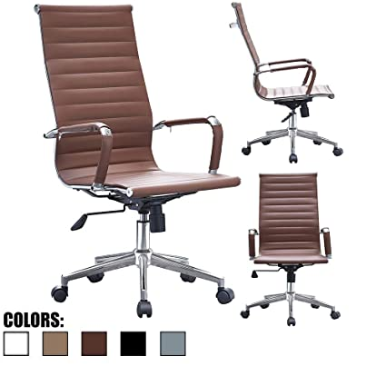 Exceptionnel 2xhome Mid Century Modern Contemporary Brown Desk Ergonomic Office Chair  With Arms Arm Rest Wheels Modern