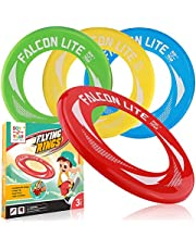 Flying Discs for Kids 4 Pack Kid's Flying Rings for Party Outside and Play -Pool Toys for Kids Adult-Garden Flying Toys with Healthy Family Fun- Fly Straight