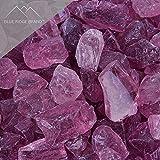 Blue Ridge Brand™ Purple Fire Glass - 50-Pound Professional Grade Fire Pit Glass - 1/2'' Fire Glass Bulk Pack - Glass Rock Contractor Pack