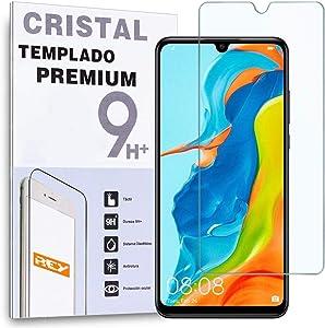 REY Protector de Pantalla para Huawei P30 Lite, Cristal Vidrio Templado Premium