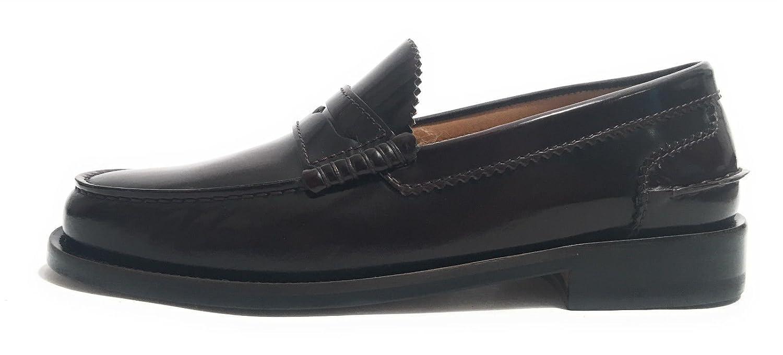 Elite - Mocasines de Piel para Hombre Violeta Burdeos: Amazon.es: Zapatos y complementos