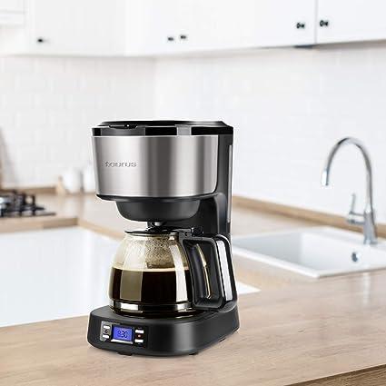 Taurus Verona Legend Cafetera de goteo programable, 14 Cups, Acero ...