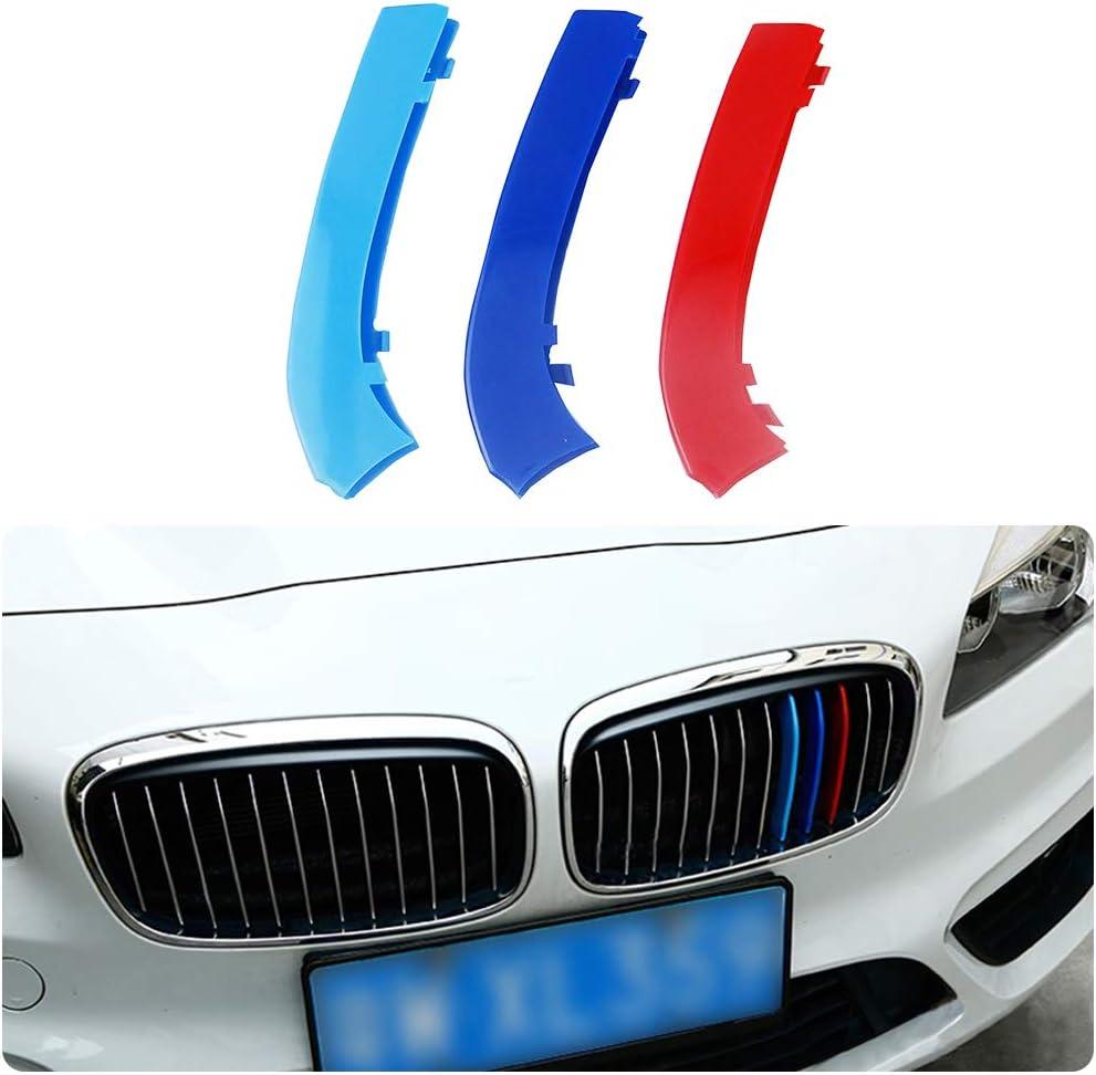 Für 15 17 2 Serie Active Tourer 12gitter 3 Colors M Styling Front Grille Trim Strips Cover Stickers 3stück Auto