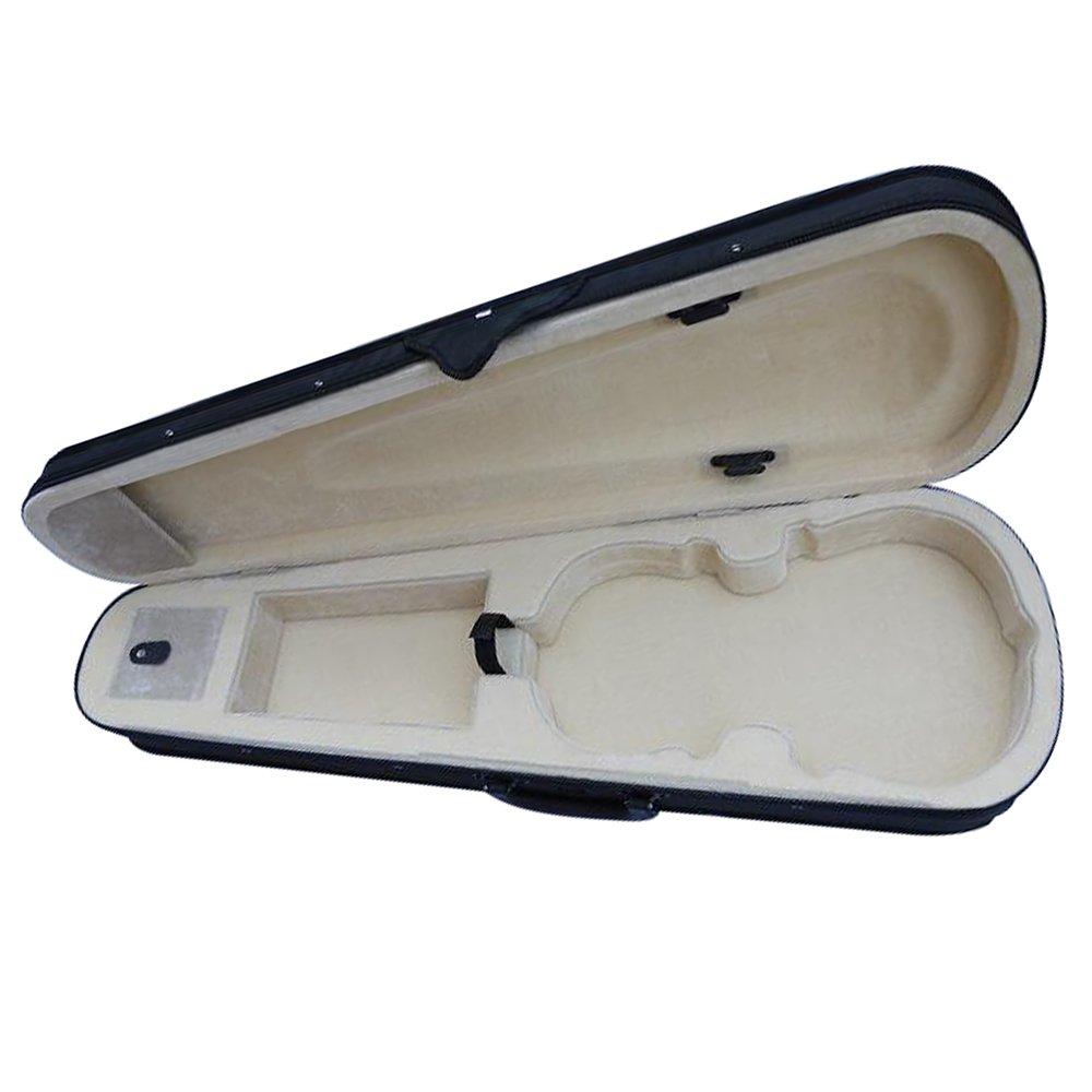 Esound Black Full Size 4/4 Lightweight Triangle Shape Violin Hard Case