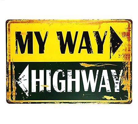 LORENZO My Way Highway One Plan Vintage Metal Cartel de ...
