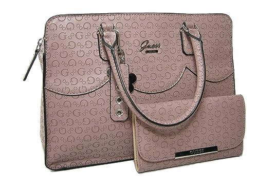 470618ccee56 New Guess G Logo Purse Box Satchel Hand Bag Crossbody  amp  Wallet Set 2  Piece Pink  Amazon.ca  Shoes   Handbags