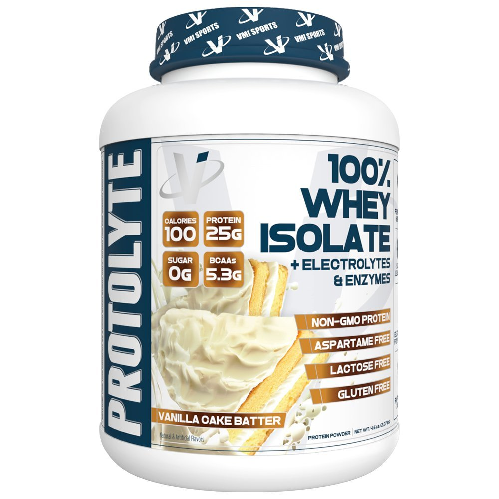 VMI Sports ProtoLyte 100% Whey Isolate 70 Servings, Vanilla Cake Batter, 4.6lb