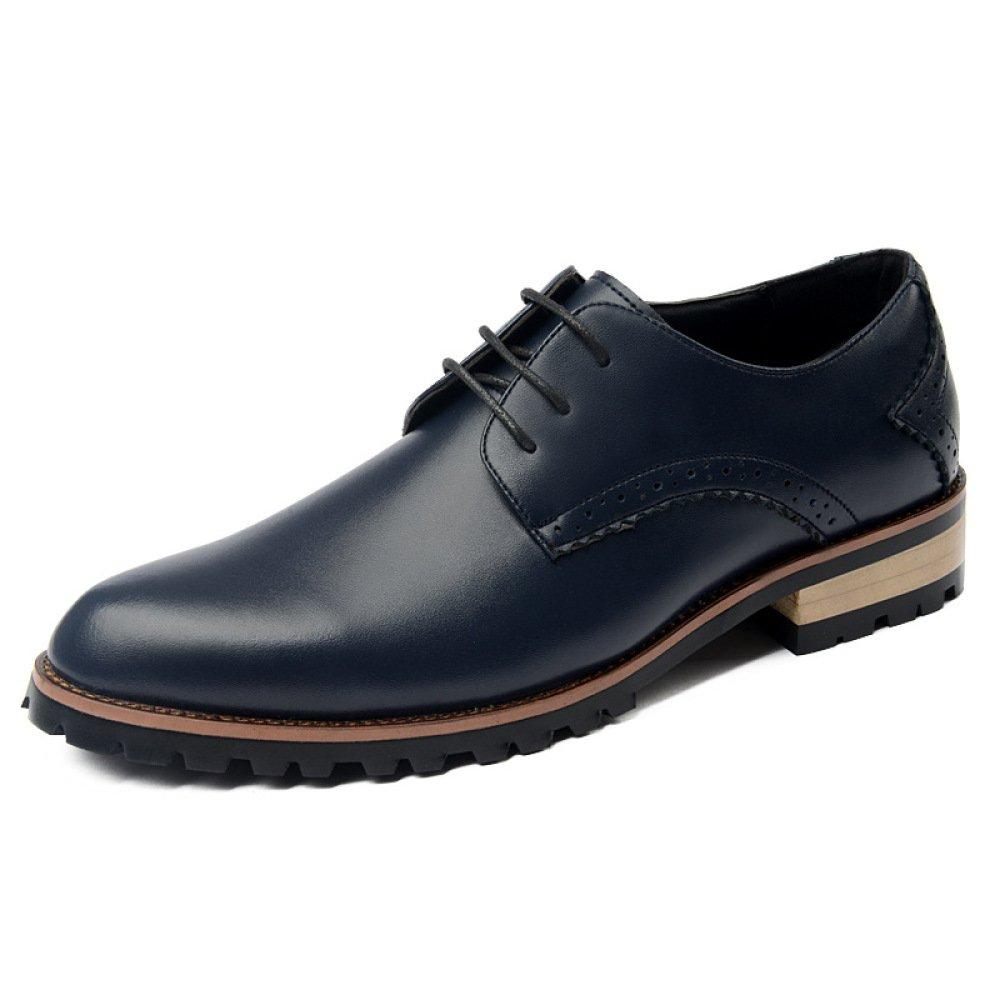 LEDLFIE Zapatos De Primavera Para Hombres Zapatos De Cuero Para Hombres Casuales Zapatos De Moda Para Hombres Zapatos De Marea 39 EU|Blue