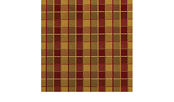 Brown And Green Checkered Silk Satin Look Upholstery Fabric By The Yard Pattern # B0140B